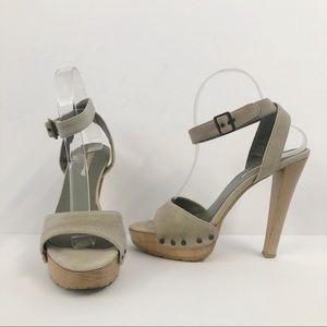 Stella McCartney Canvas Wooden Platform Heels
